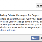 Facebook to launch private messaging between Pages and Fans