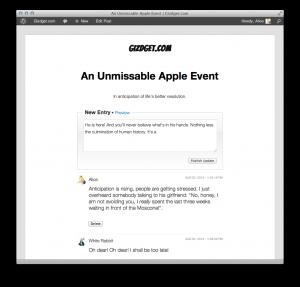 live blog plugin