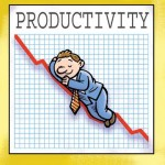 What role does social business play in rising productivity?
