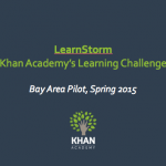Khan Academy, mindset and Learnstorming