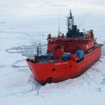 Using drones to safely navigate ice-seas