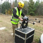 Using drones to check utility lines