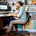 Does work outside office hours help or hinder family life?